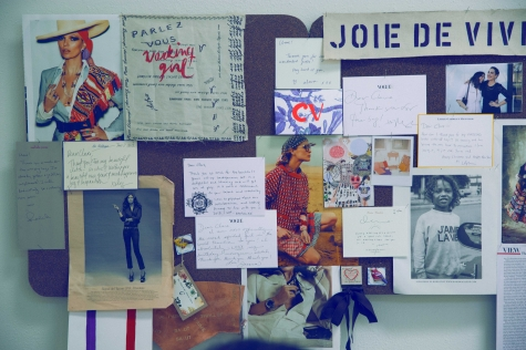 Clare's pinboard.