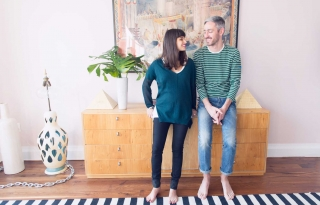 Jeff Halmos and Lisa Mayock on Mom (to-be) Jeans and More