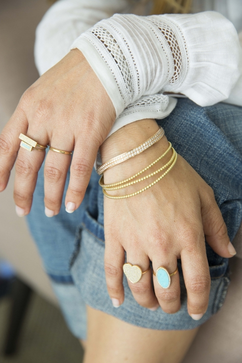 """Jeans are a perfect canvas for anything and I think if you like jewelry, I do a lot that goes great with jeans – 18k gold, diamonds, I do a lot of turquoise, lapis. I'm a blue girl."""