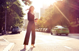 Jean of the Week: Leah Chernikoff in Rachel Comey's Legion Wide-Leg